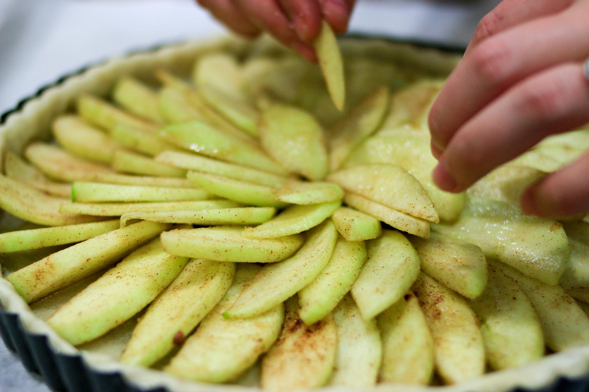 tarte normande aux pommes