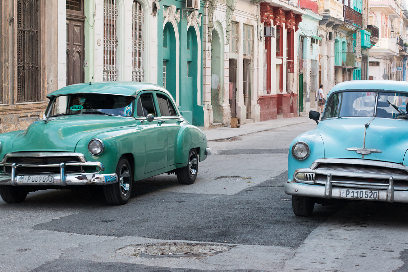 taxi in old havana cuba by rebecca plotnick