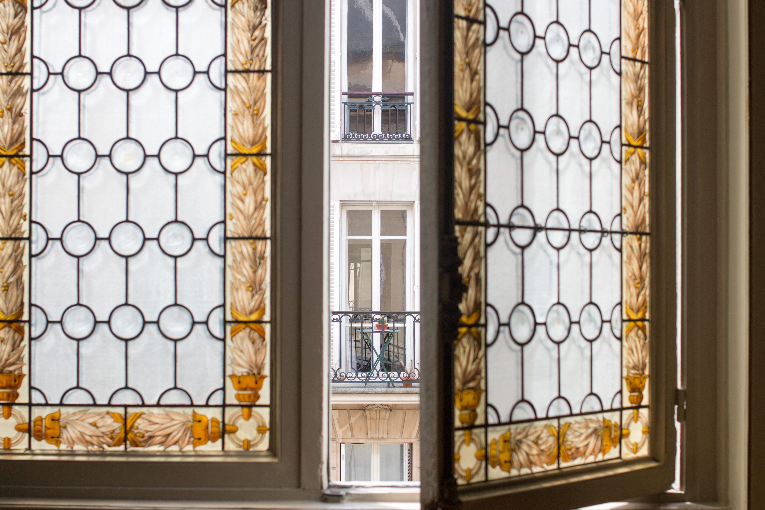 left bank window in the spring in paris via everyday parisian