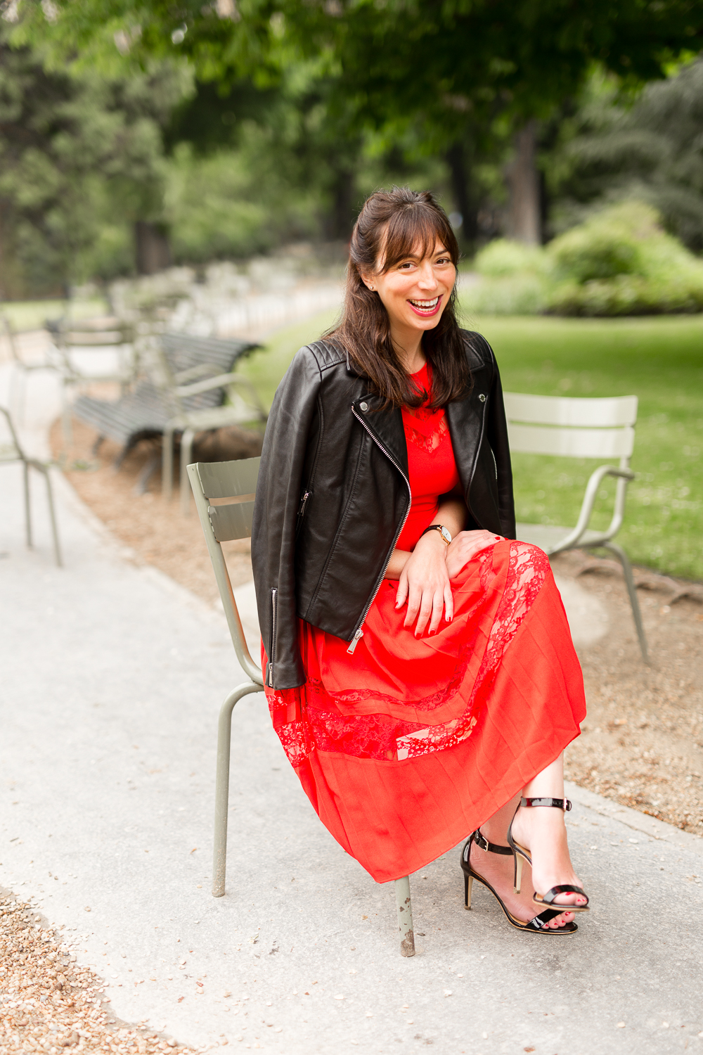 rebecca plotnick in red dress photograph by katie donnelly