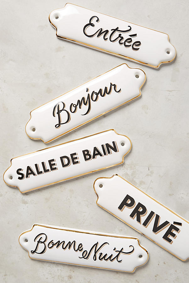 La Maison Plaque - I have the Bonjour as a gift from Leyla