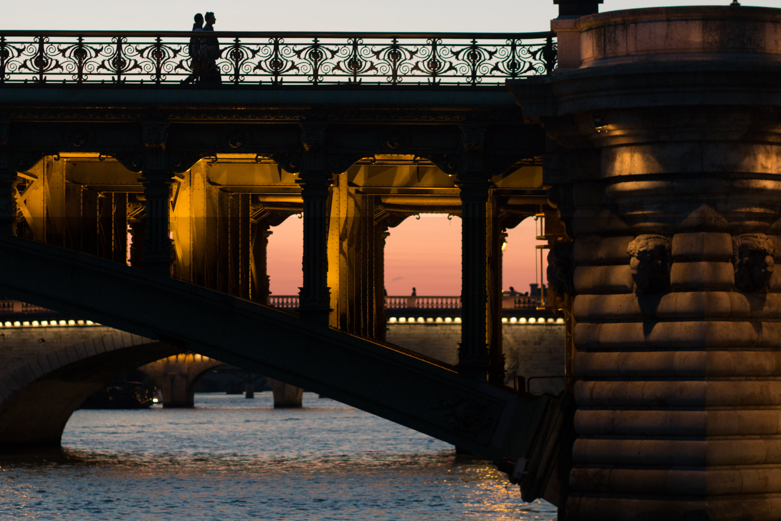 sunset stroll on the seine paris france