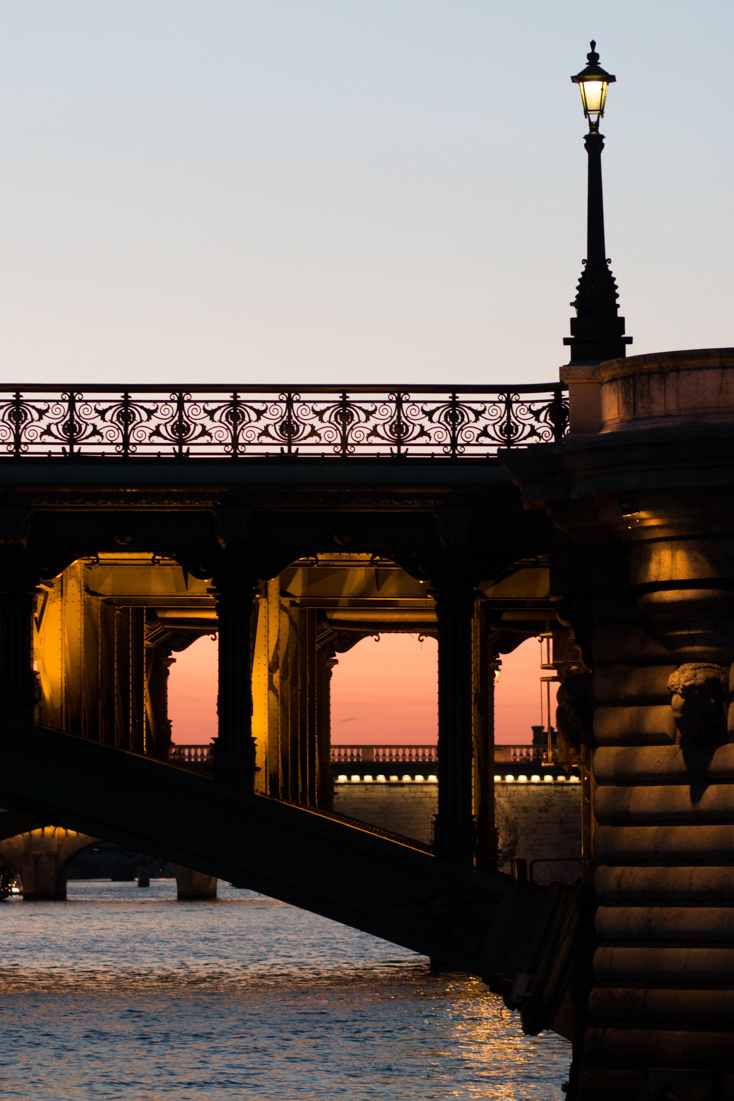 sunset stroll on the seine in paris france