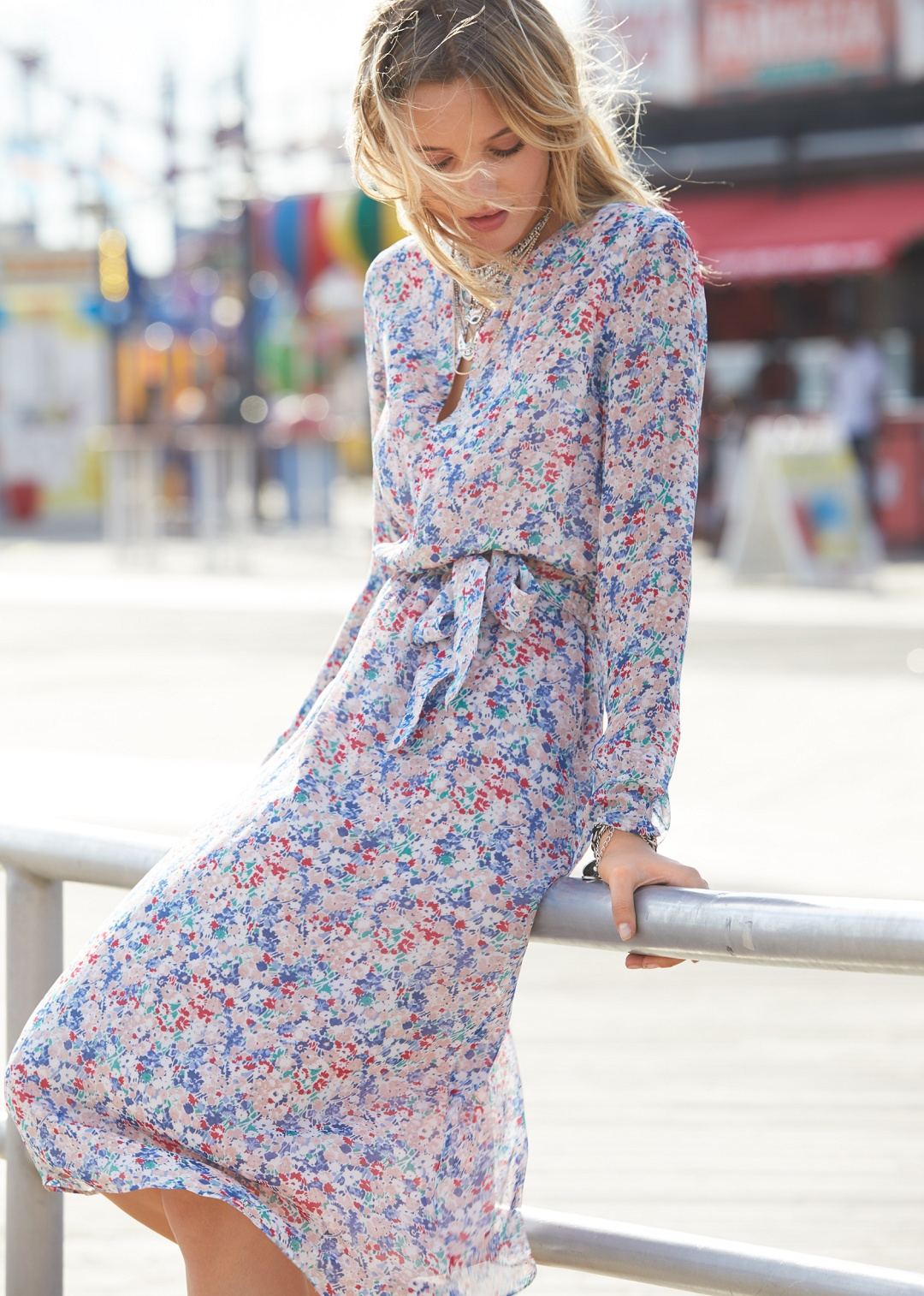 floral sezane victoire dress
