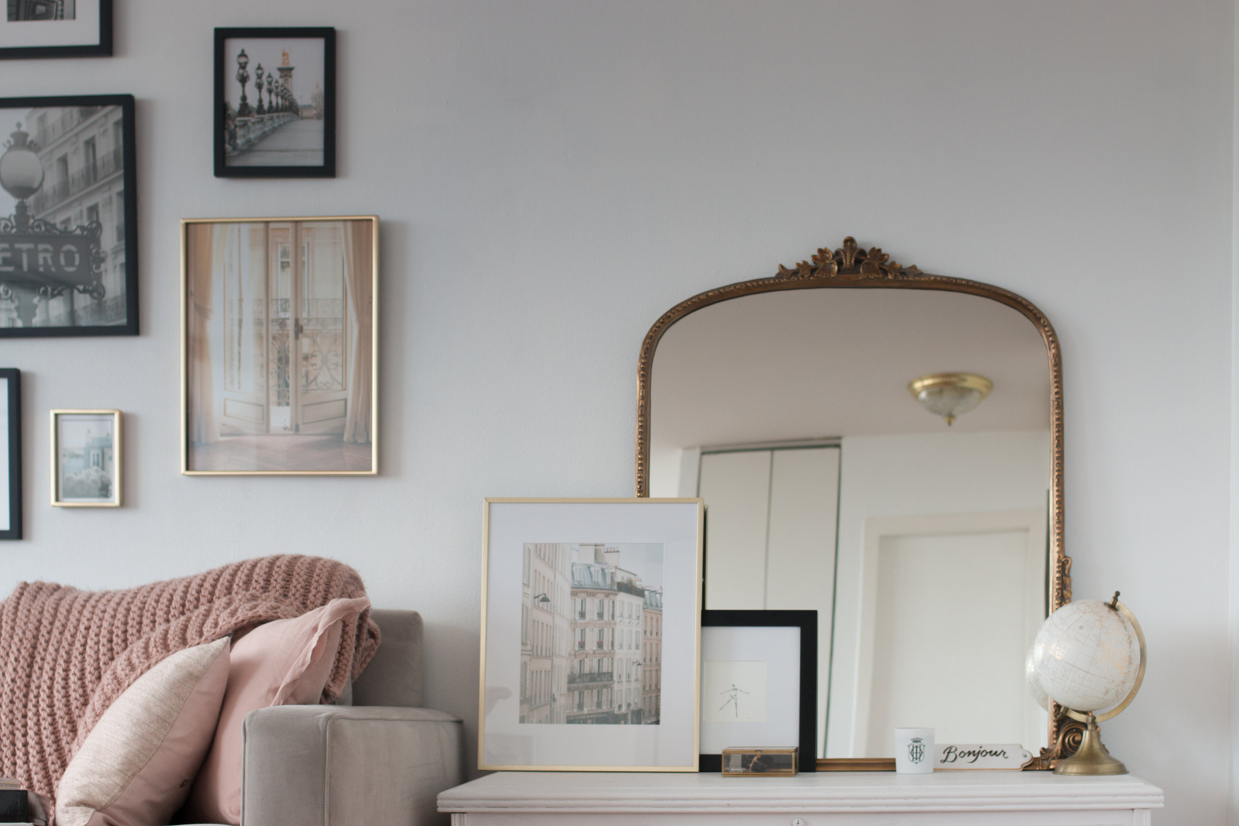 anthropologie gold mirror