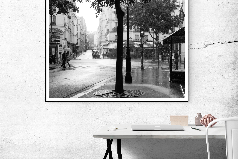 rainy sunday morning in paris