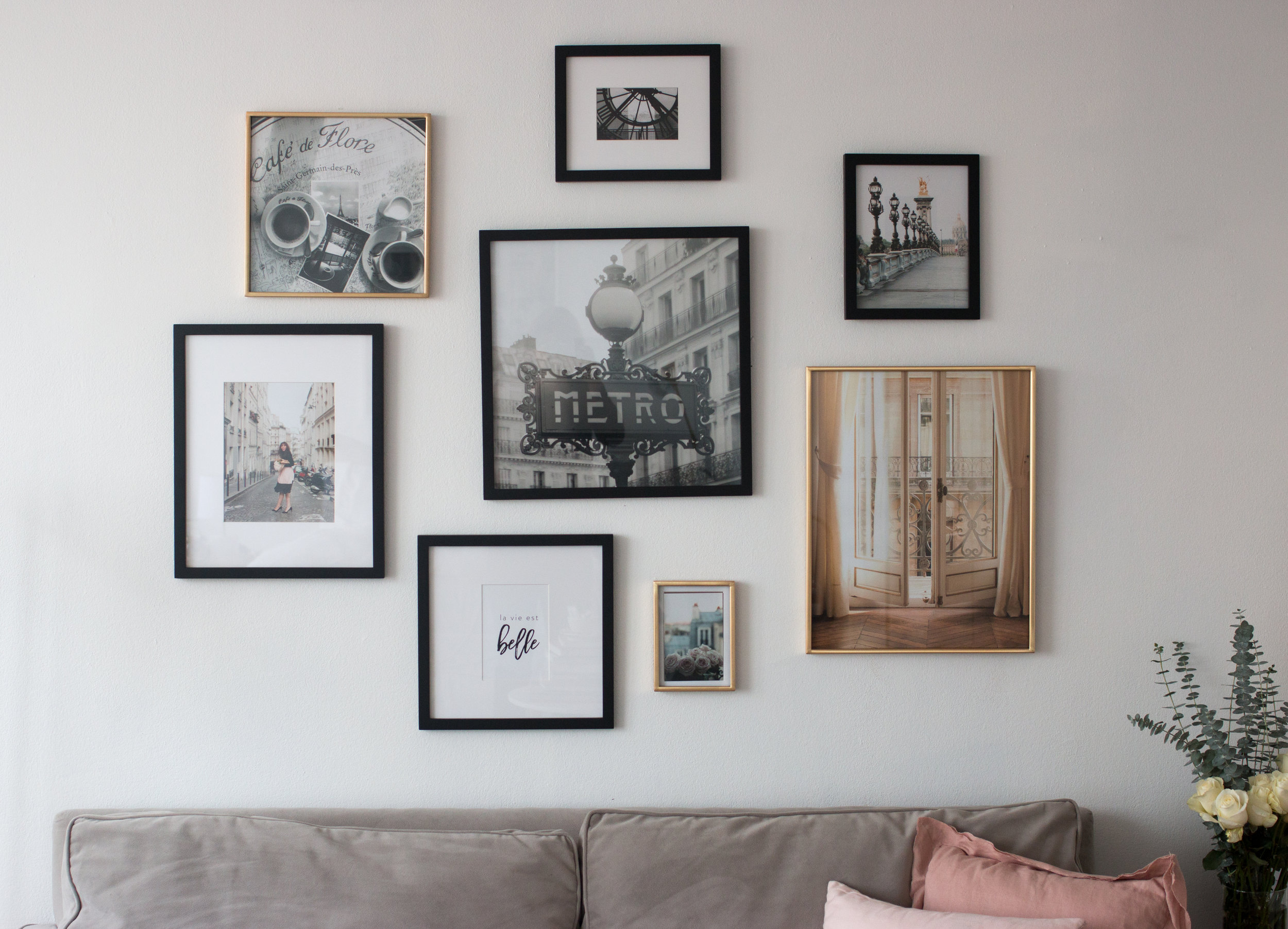 every day parisian rebecca plotnick gallery wall