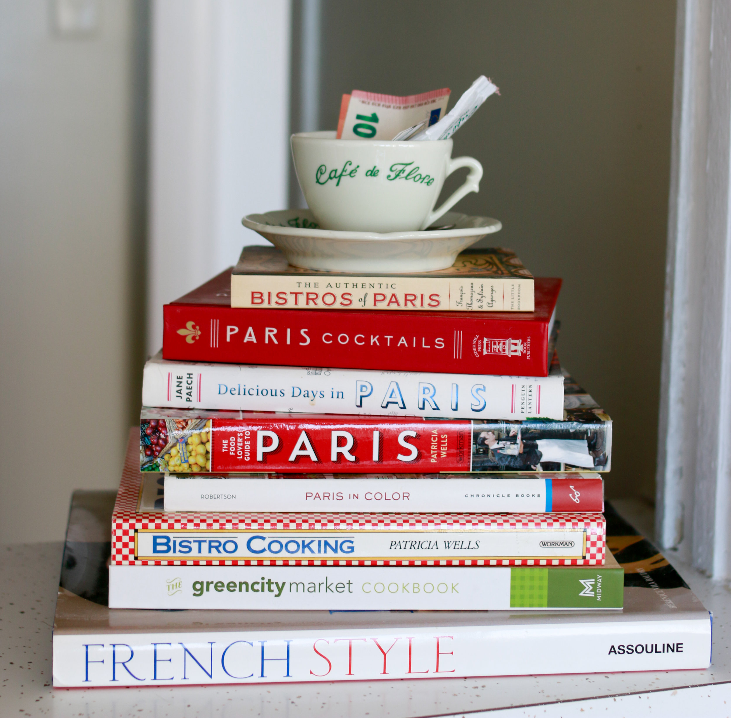 francophile book stack every day parisian