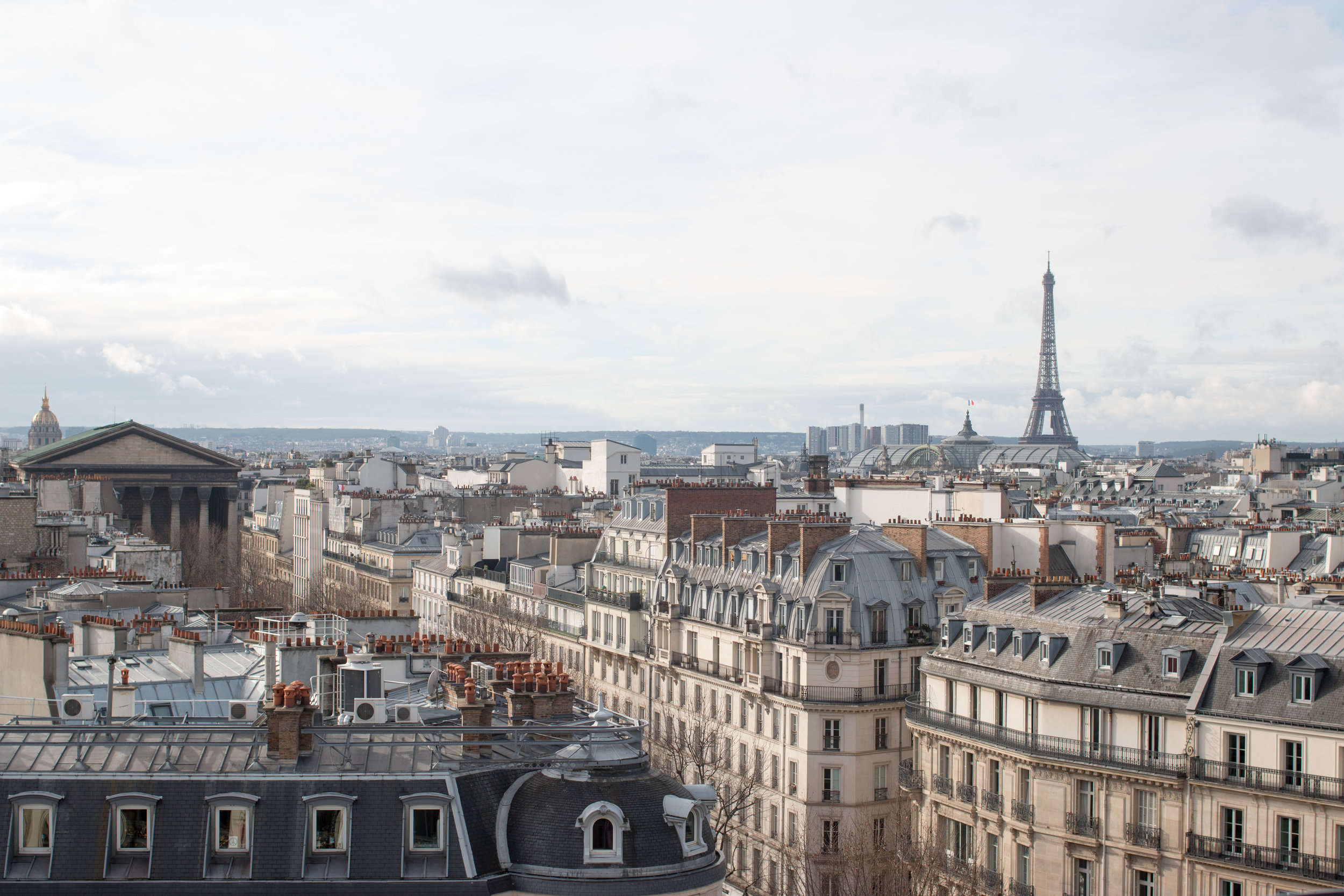 paris view from printemps