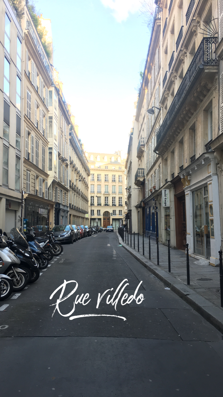 paris france rue villedo