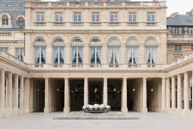 paris palais royal gardens in the first arrondissement