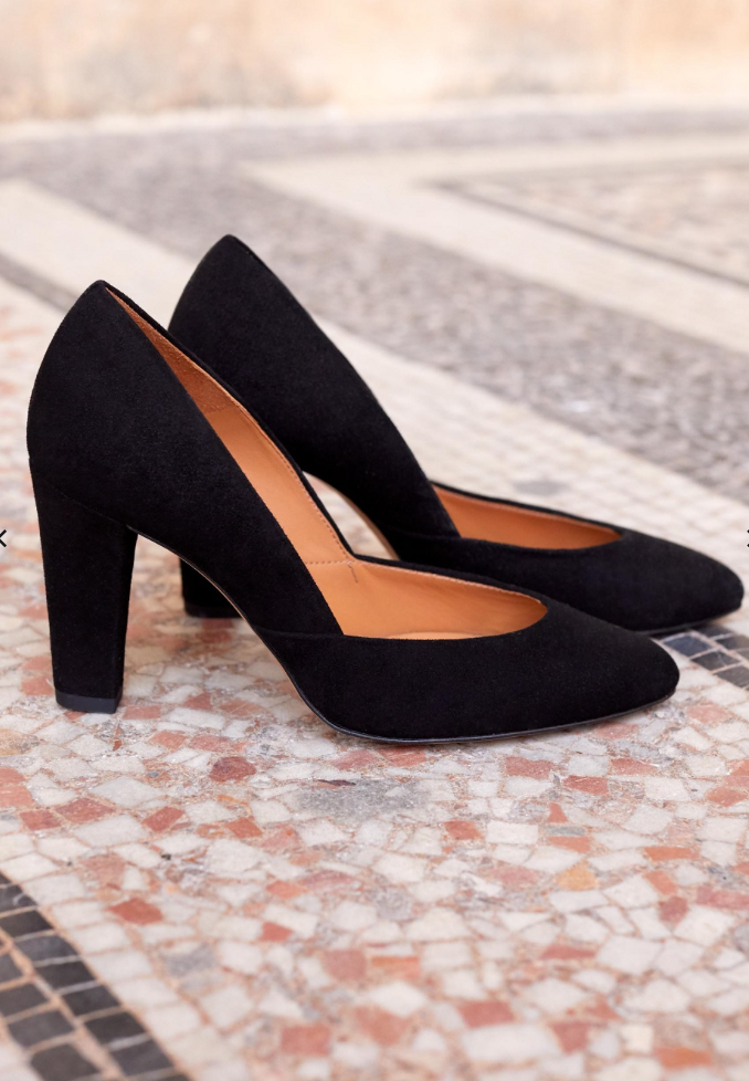 sezane black heels for fall