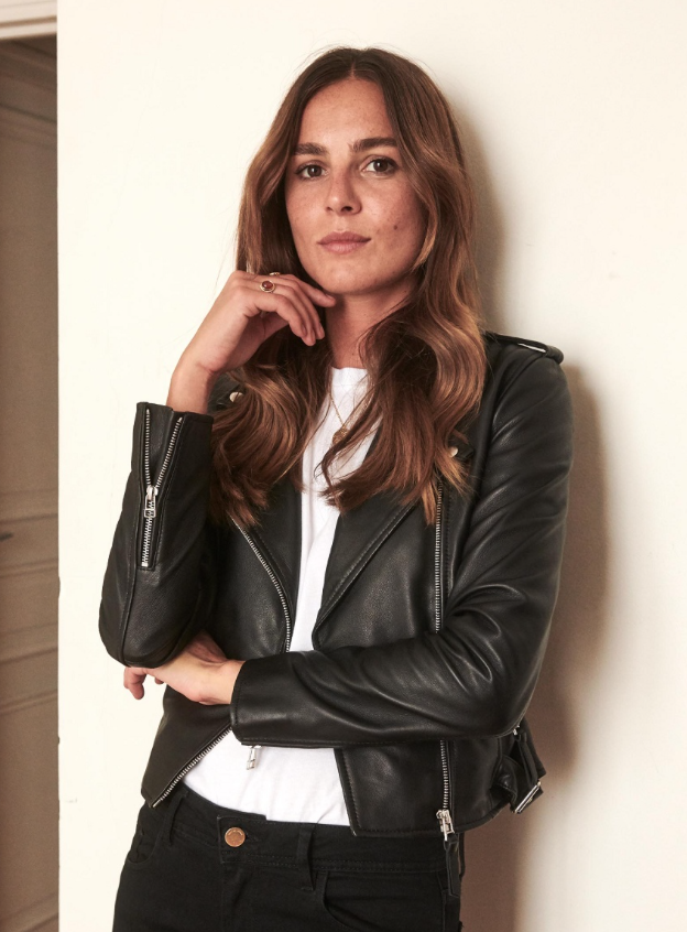 leather zig zag jacket sezane
