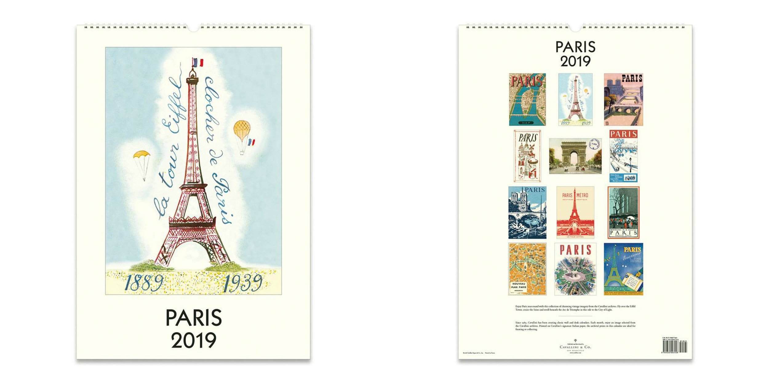 paris calendar cavillini available at paper source