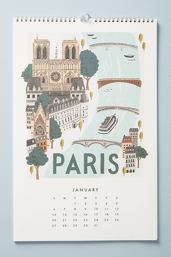 paris calendar rifle paper co