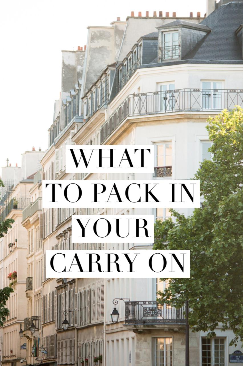 travel essentials for long flights