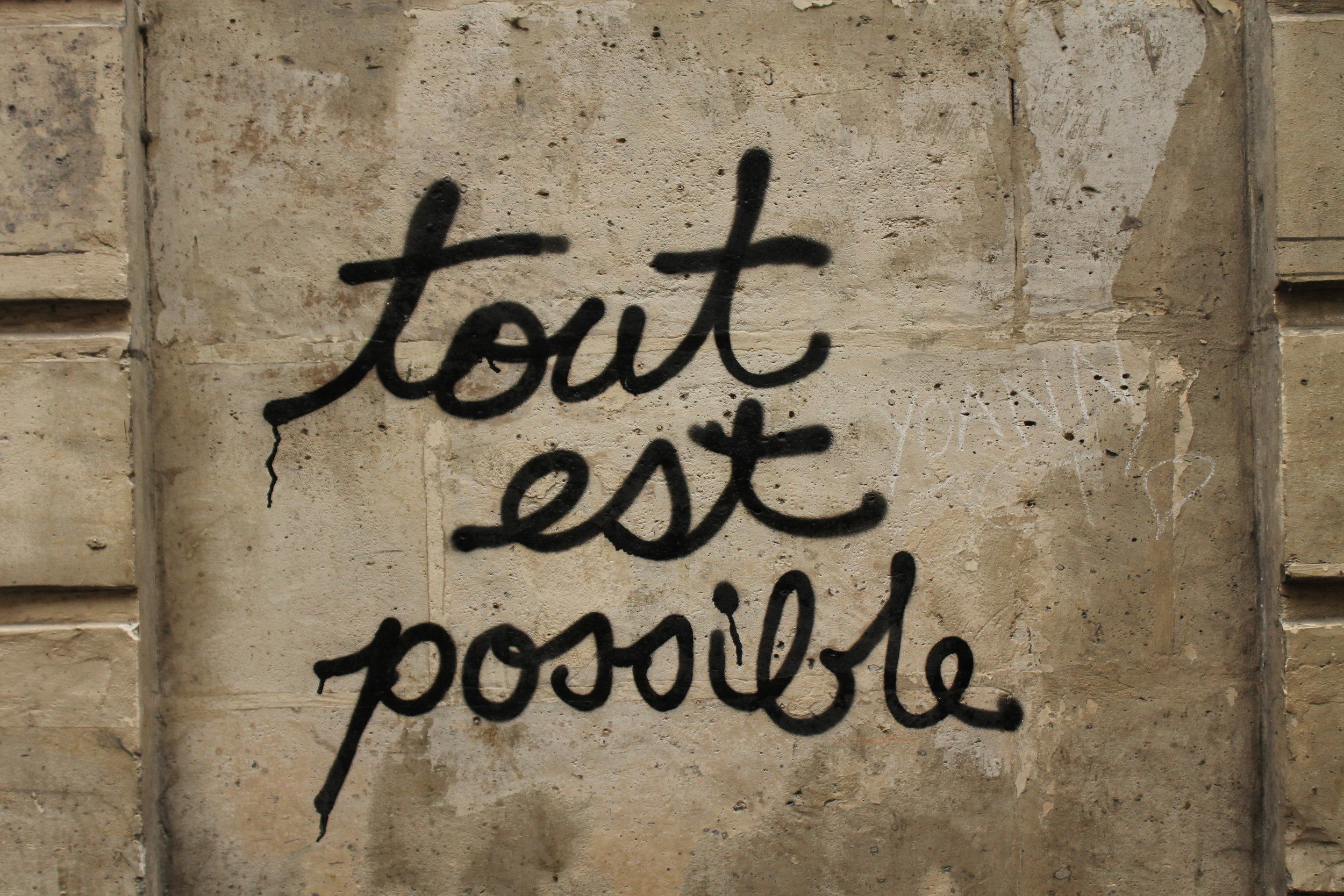 tout est possible graffiti print rebecca plotnick