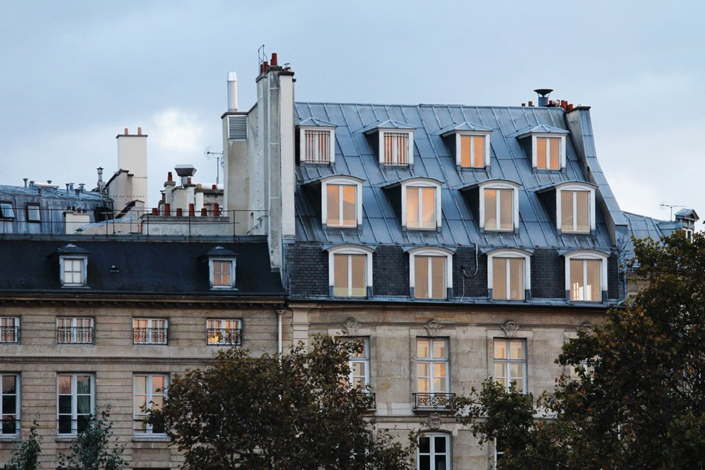 windows along the seine by Rebecca Plotnick