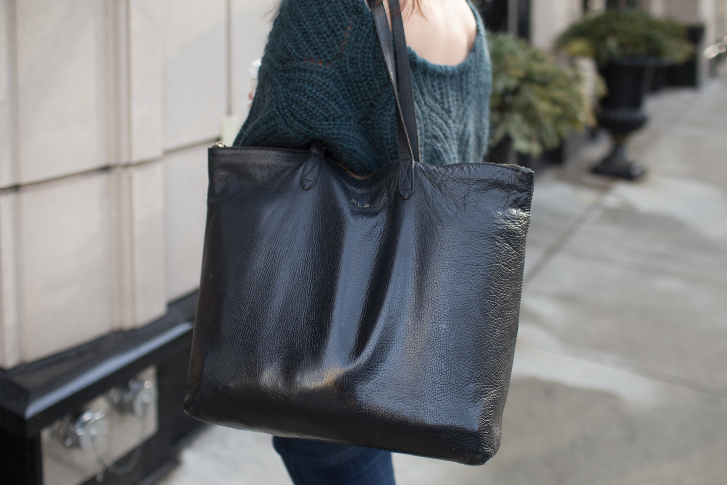 cuyana leather bag