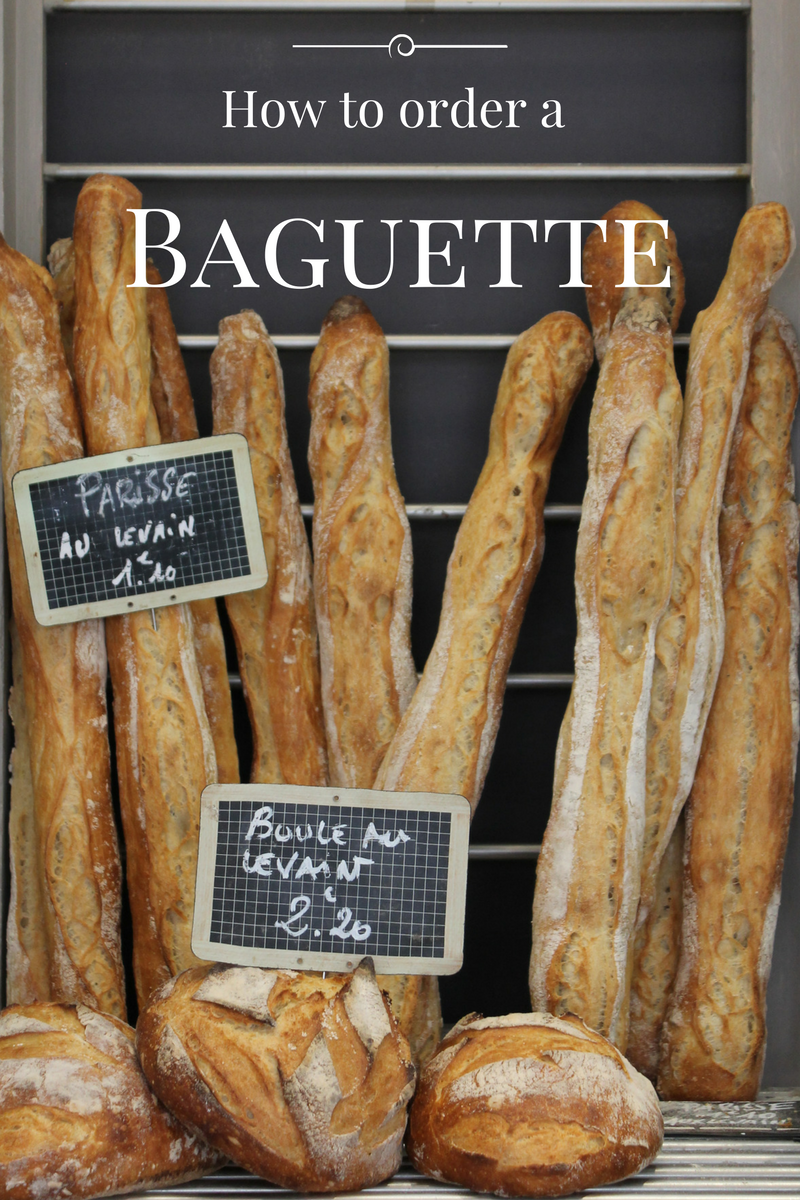 how to order a baguette in french