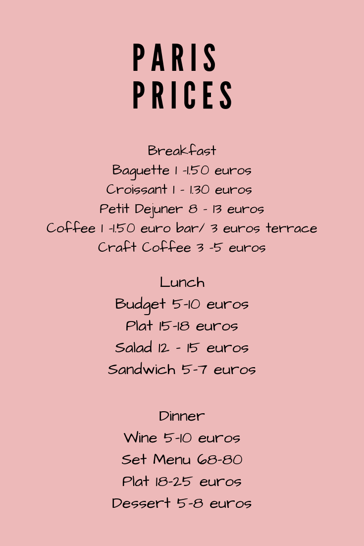 how much should I budget for a trip to Paris