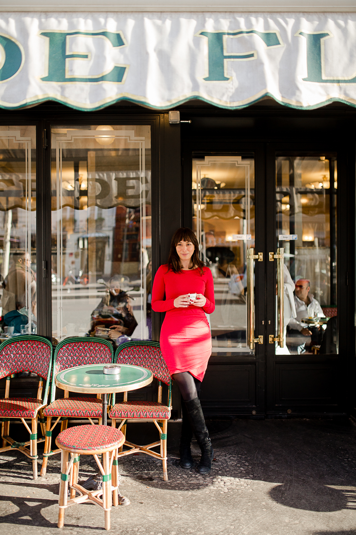 katie donnelly for everyday parisian cafe de flore