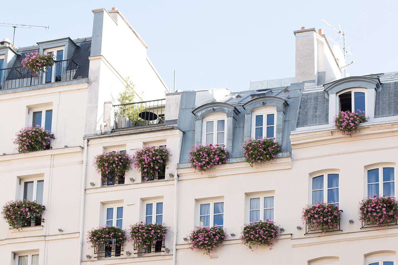 Shop St Germain de Prés Floral Balcony Print Here