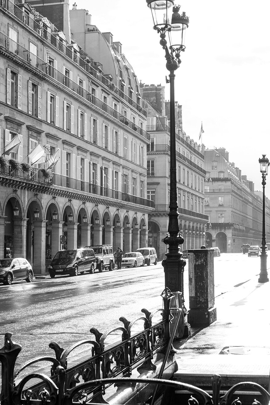 Rue de Rivoli Sunday Morning Light
