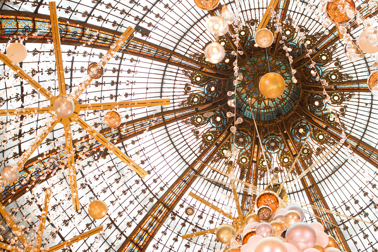 galleries lafayette christmas in paris by rebecca plotnick