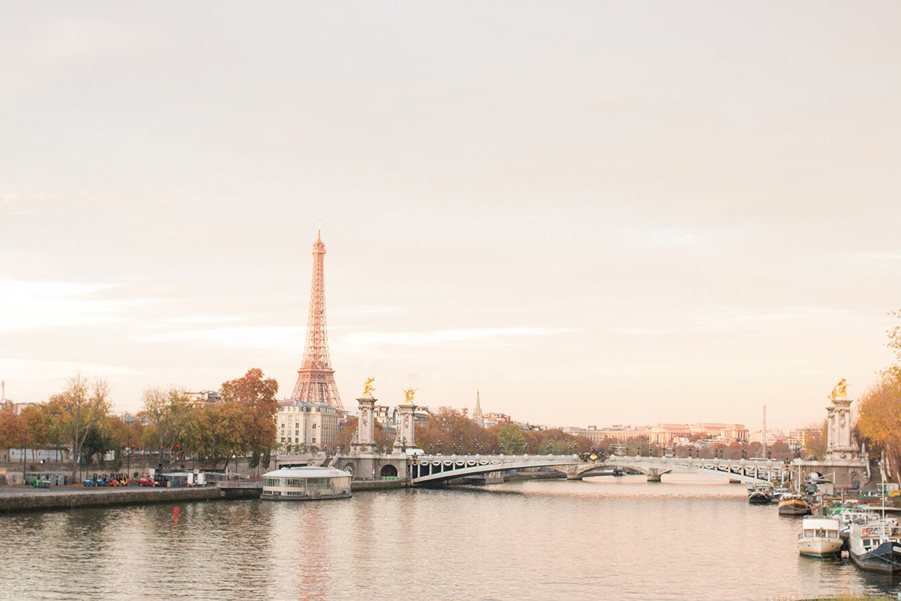 Shop Fall Sunrise on the Seine Print Here