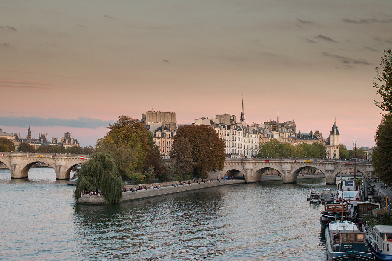 Shop Fall Sunset on the Seine Photo Here