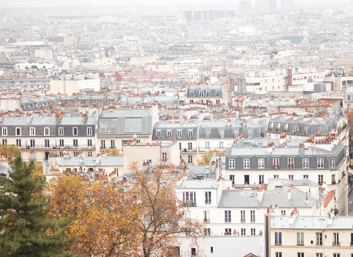 Shop Rainy Montmartre Rooftops in the Fall Print Here