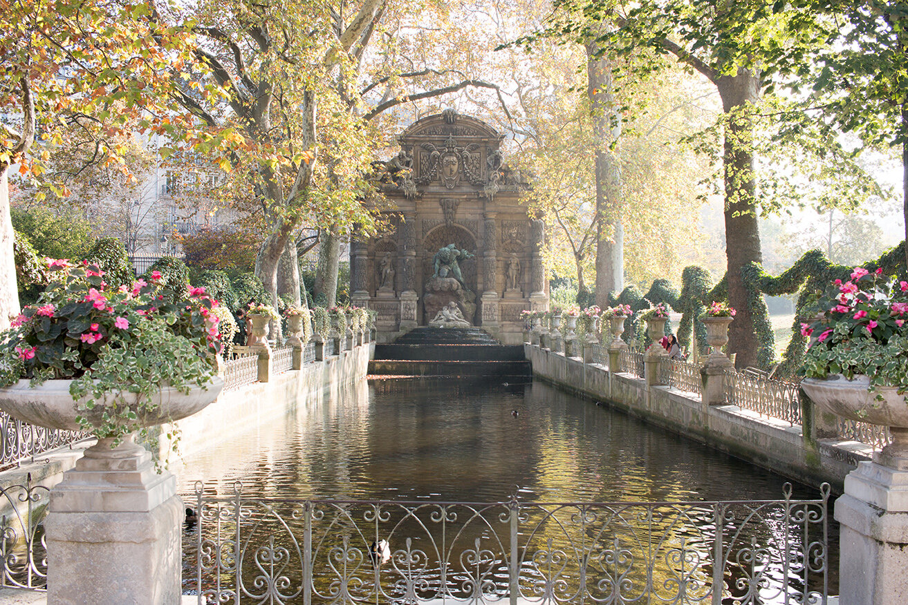 Shop Luxembourg Gardens Fountain in the Fall Print Here