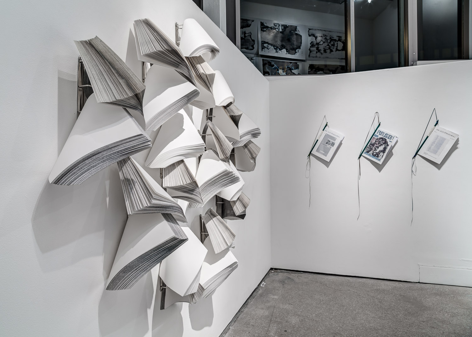 Lever Arch Constructions (front) & The Self Publisher (background) (Various dates), Installation view, Castlefield Gallery, Manchester.