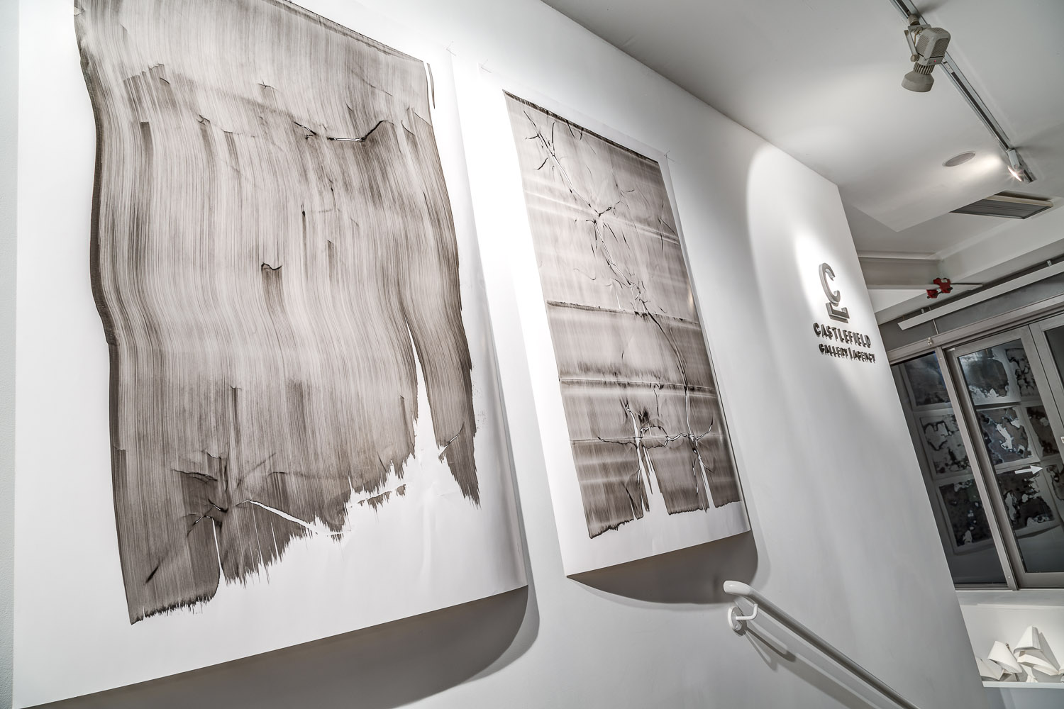 Manipulated Images No's 53 and 61, (2012), Installation view, Castlefield Gallery, Manchester.
