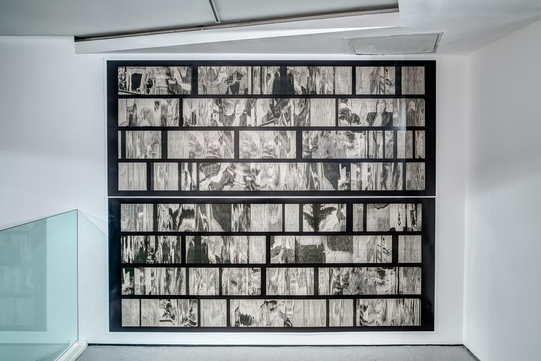Screenscans Havana 14' 30  (2012), Installation view, Castlefield Gallery, Manchester.