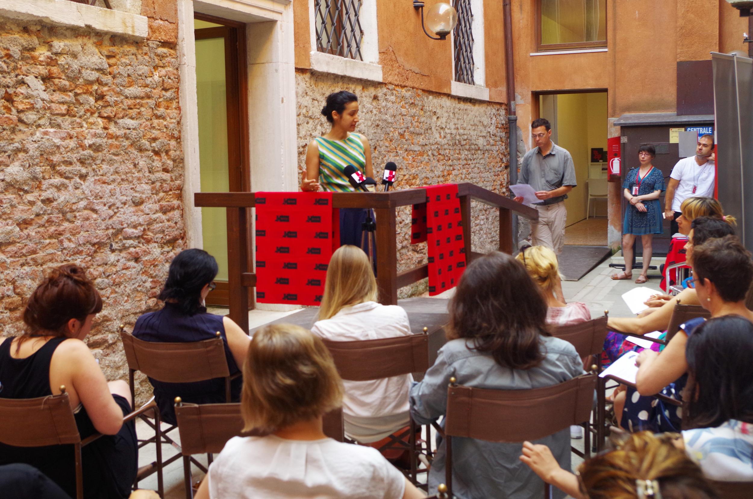 PRESS ROOM, Creative Time Summit, Venice Biennale, (2015)