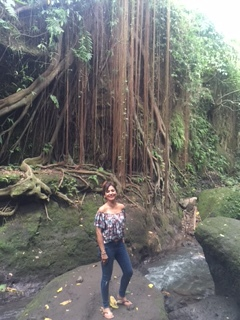 Author @ The Sacred Monkey Forest
