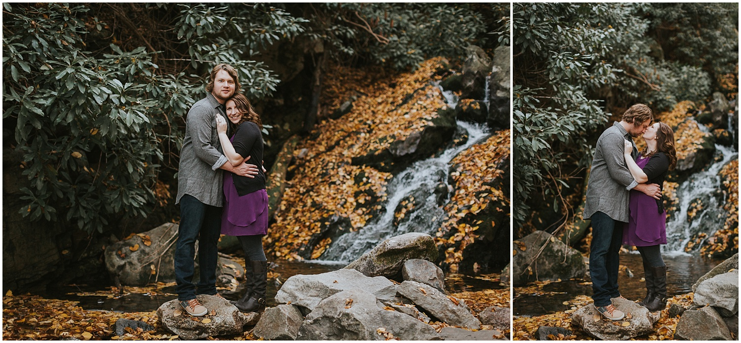 Glen Onoko Falls Jim Thorpe Engagement Photographer