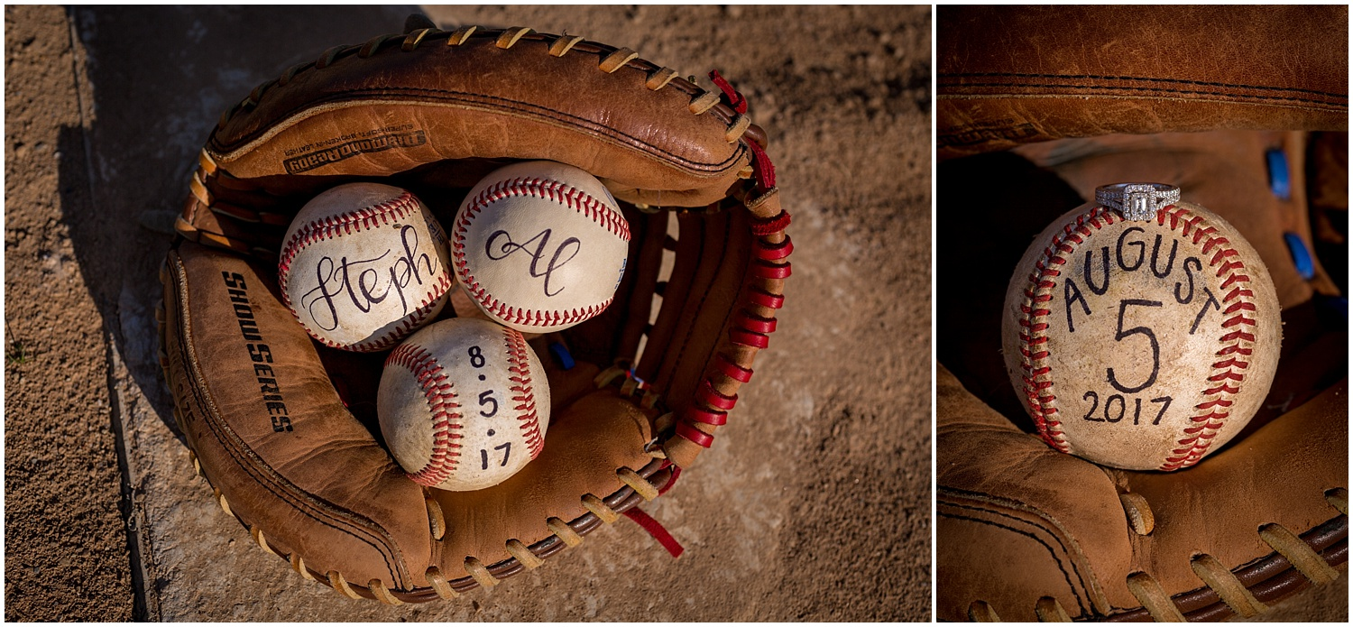 Baseball Field Engagement Photography