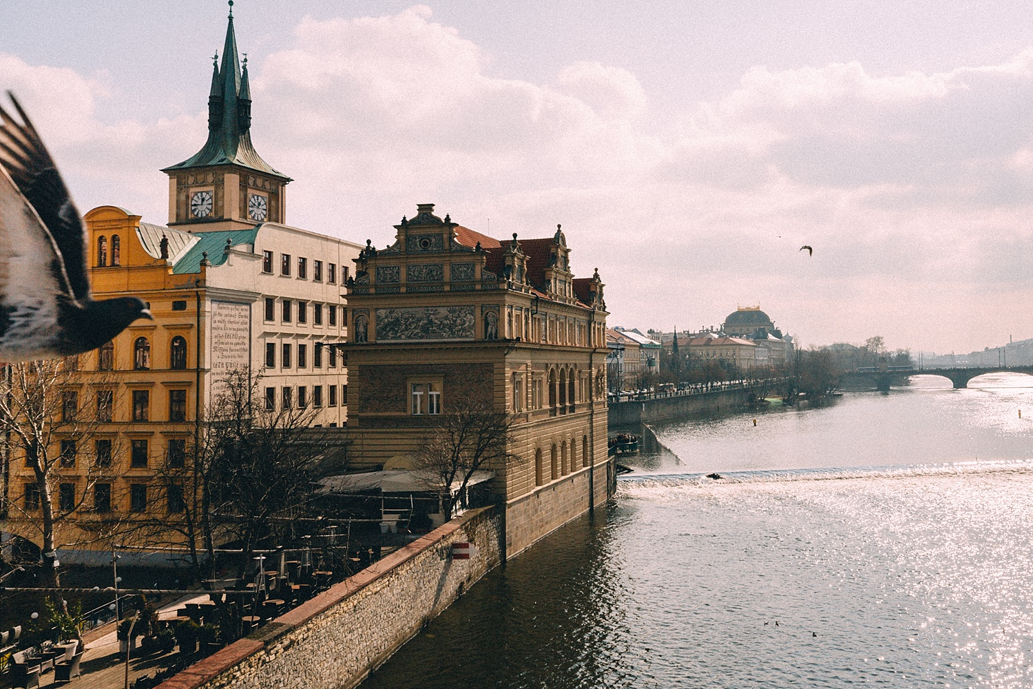 Taken on the Charles Bridge, Prague (notice the photobombing bird)
