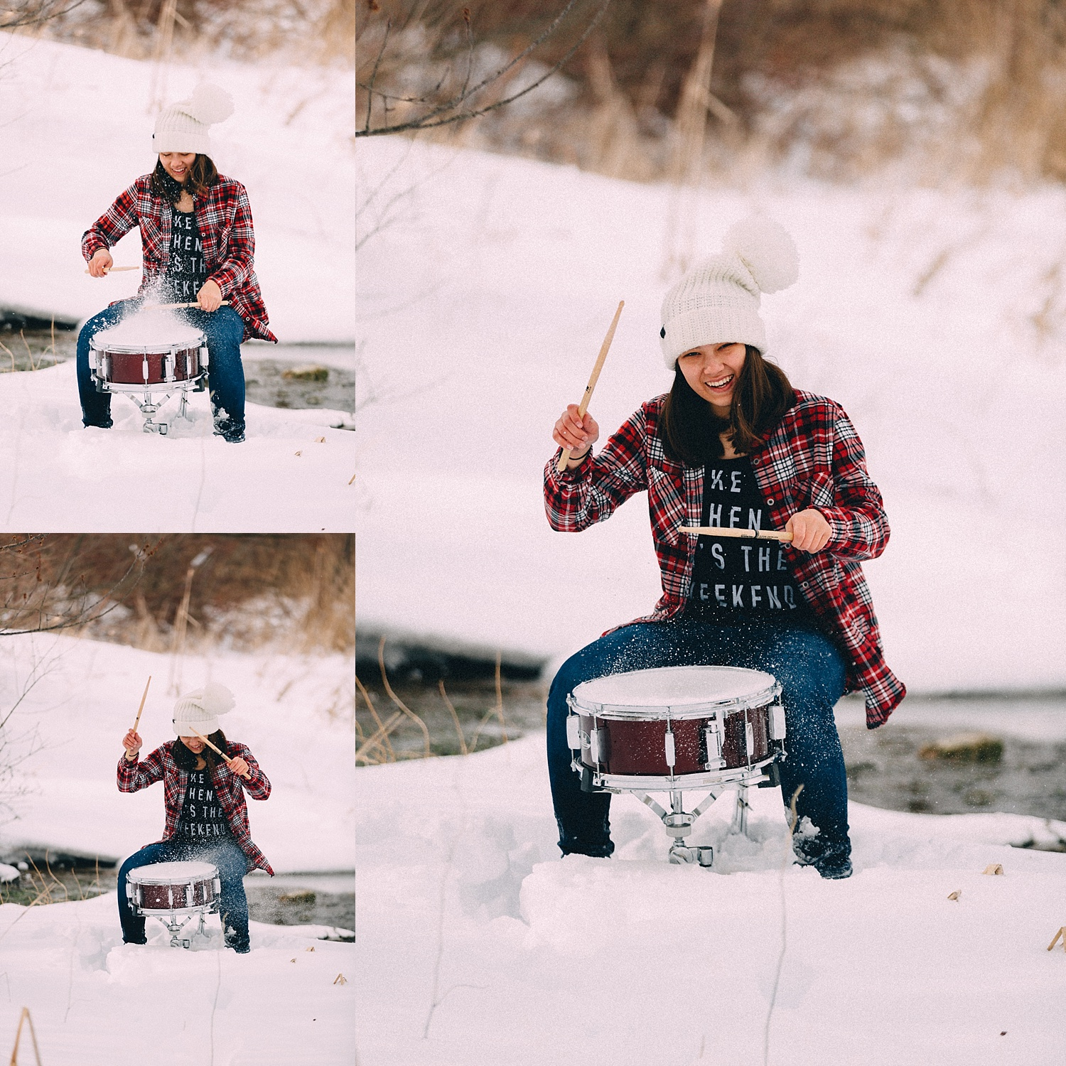 Berks County snowy teenager photoshoot