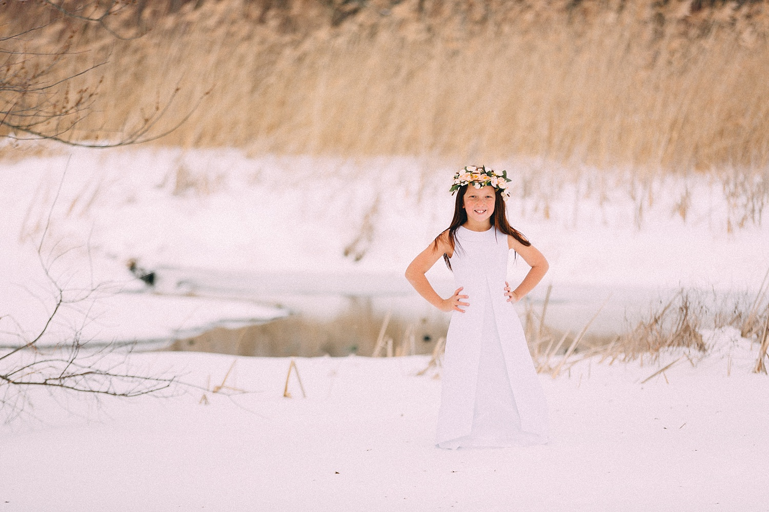 Berks County snowy child photoshoot