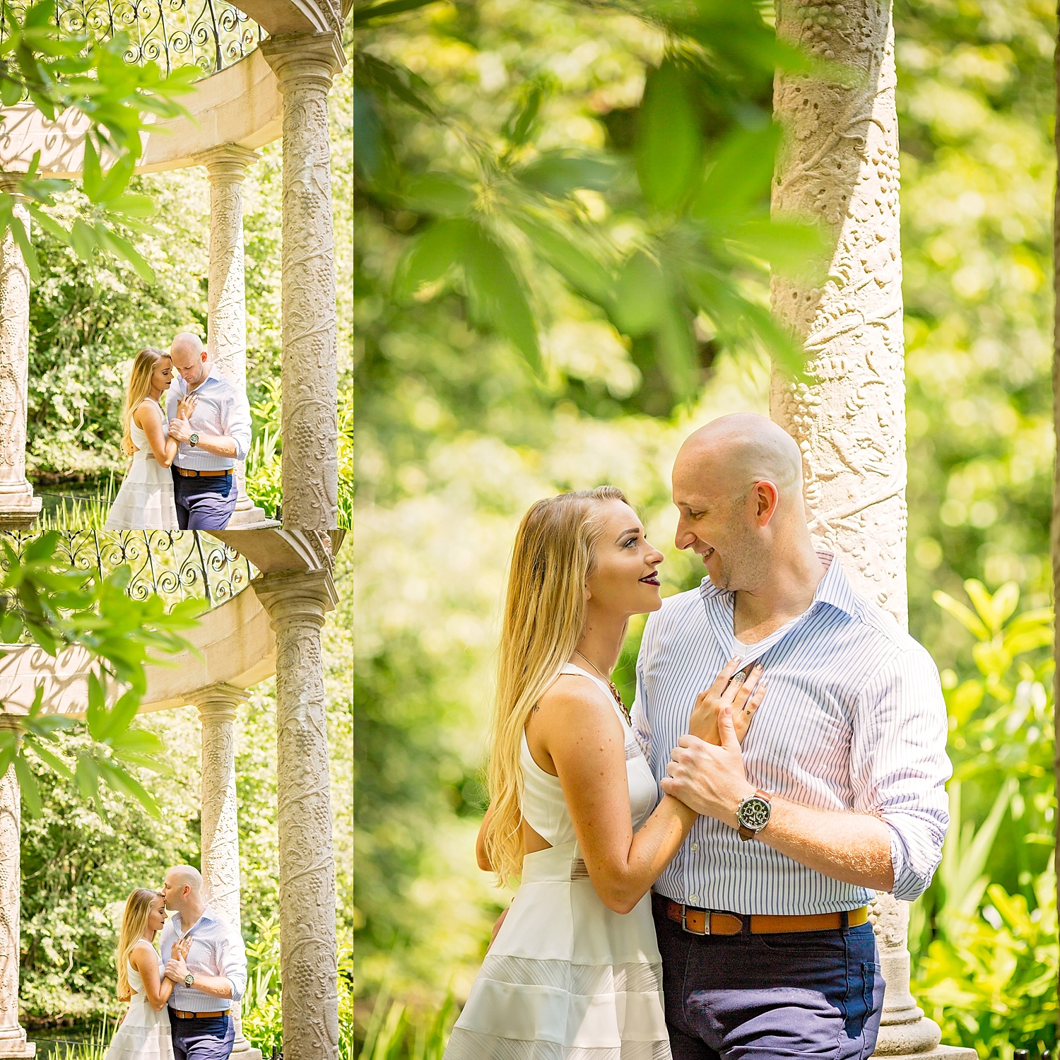 Longwood Gardens engagement photoshoot