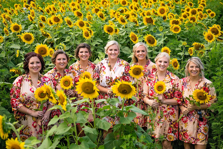 Chester County Pennsylvania Sunflower Field Wedding Photographer