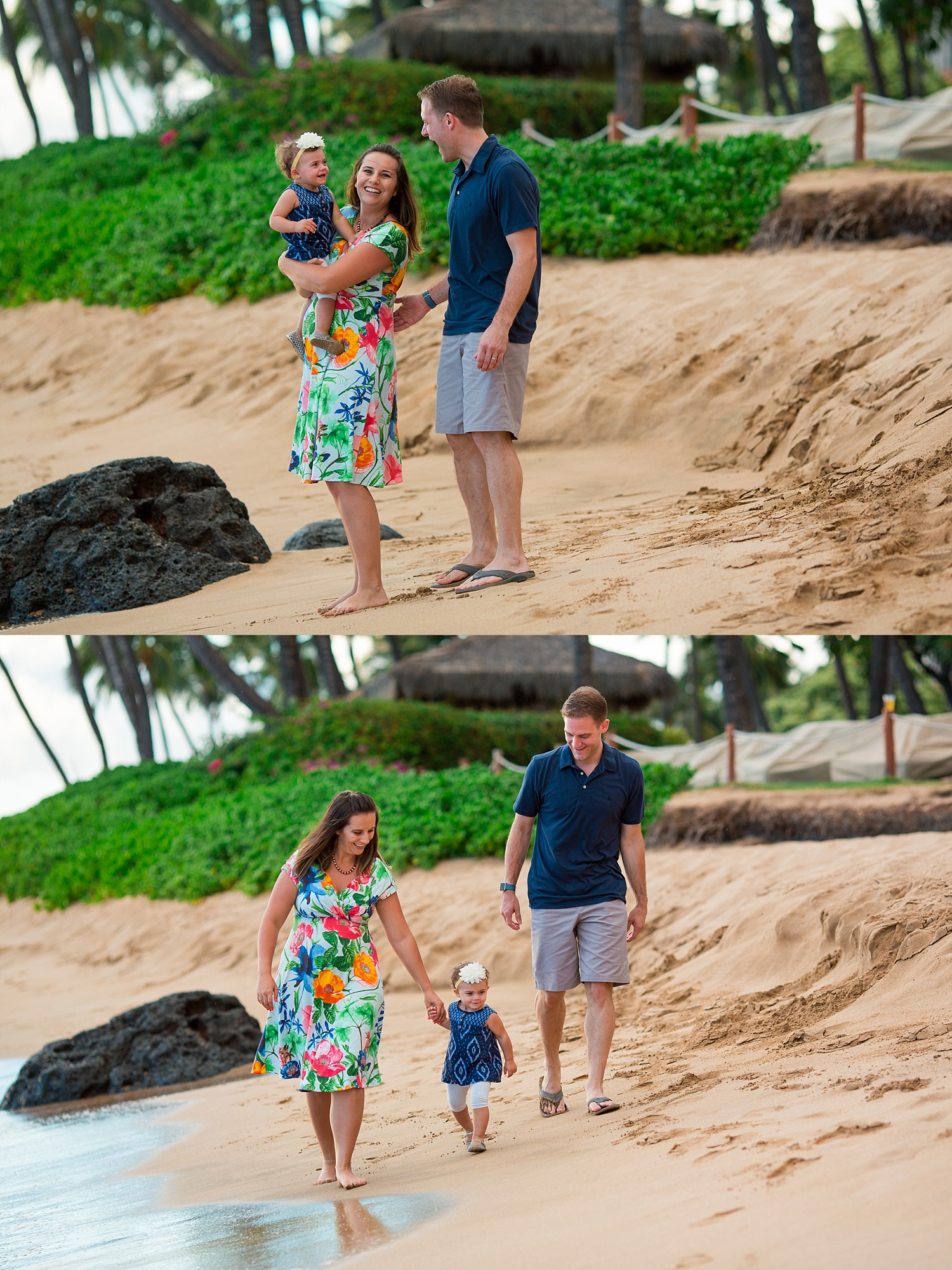 Hyatt Regency Maui Hawaii sunset beach family photoshoot