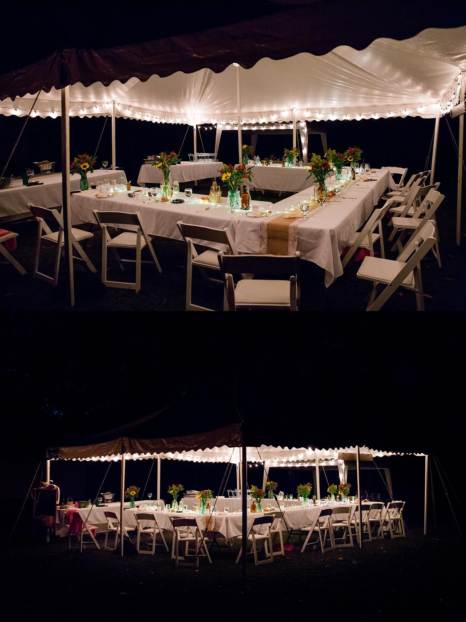 Intimate Backyard Fall Pennsylvania Wedding Photographer