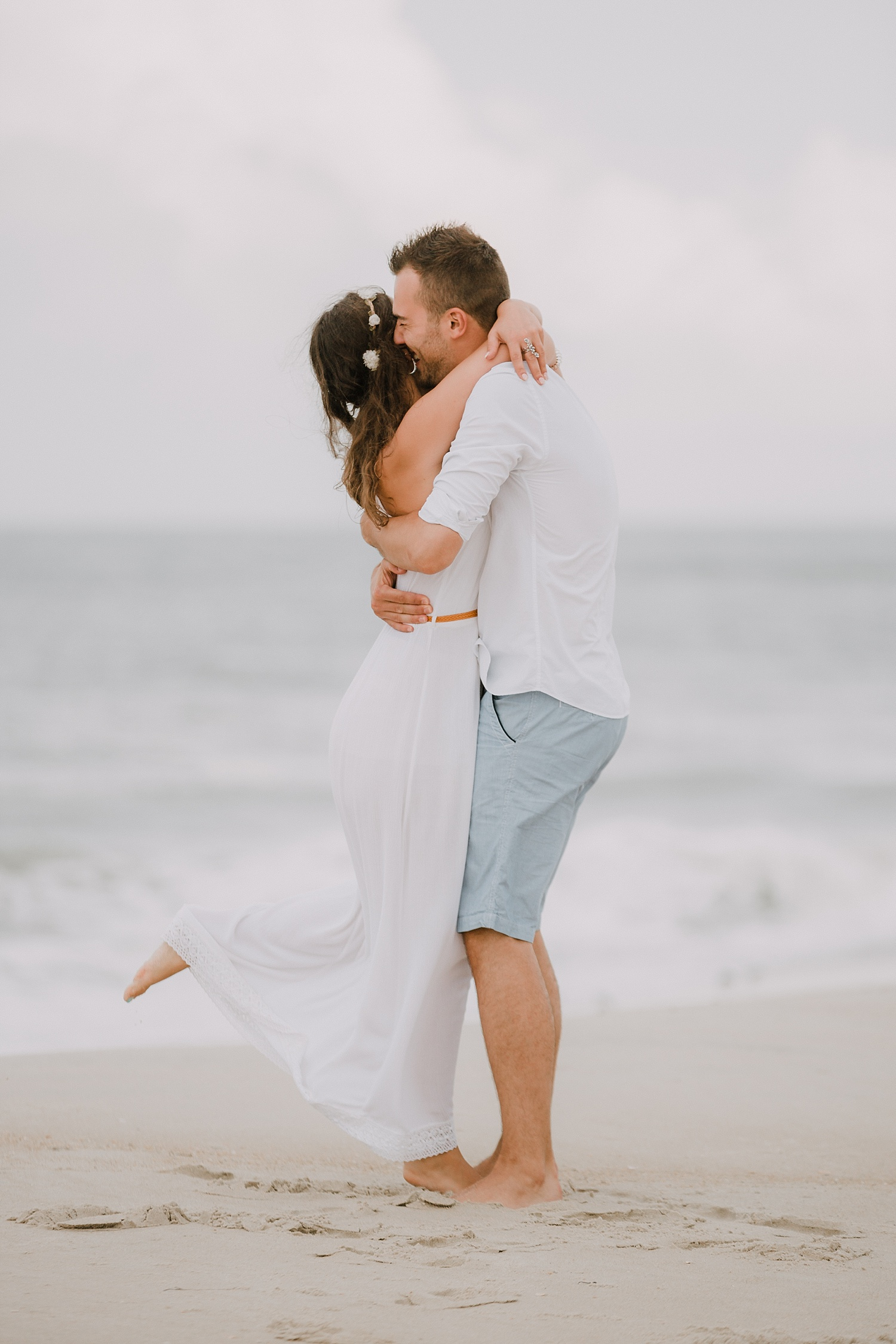 Rodanthe Outer Banks North Carolina NC surprise proposal engagement beach photographer session