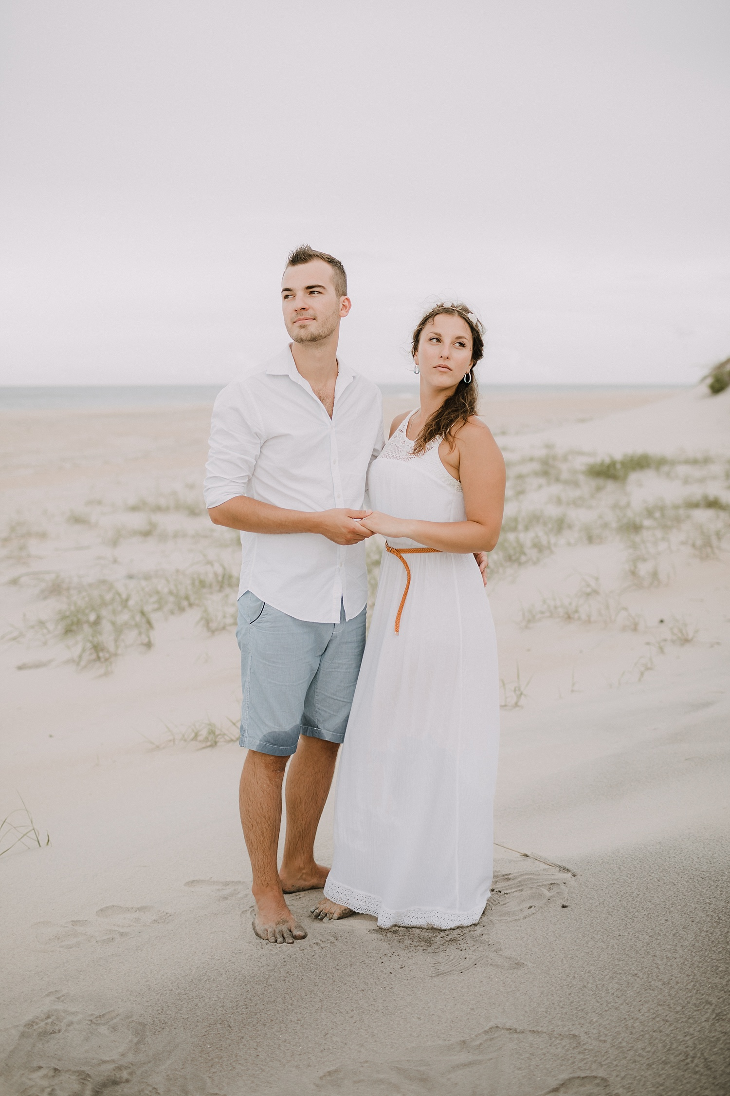 Rodanthe Outer Banks North Carolina NC surprise proposal engagement beach photographer session