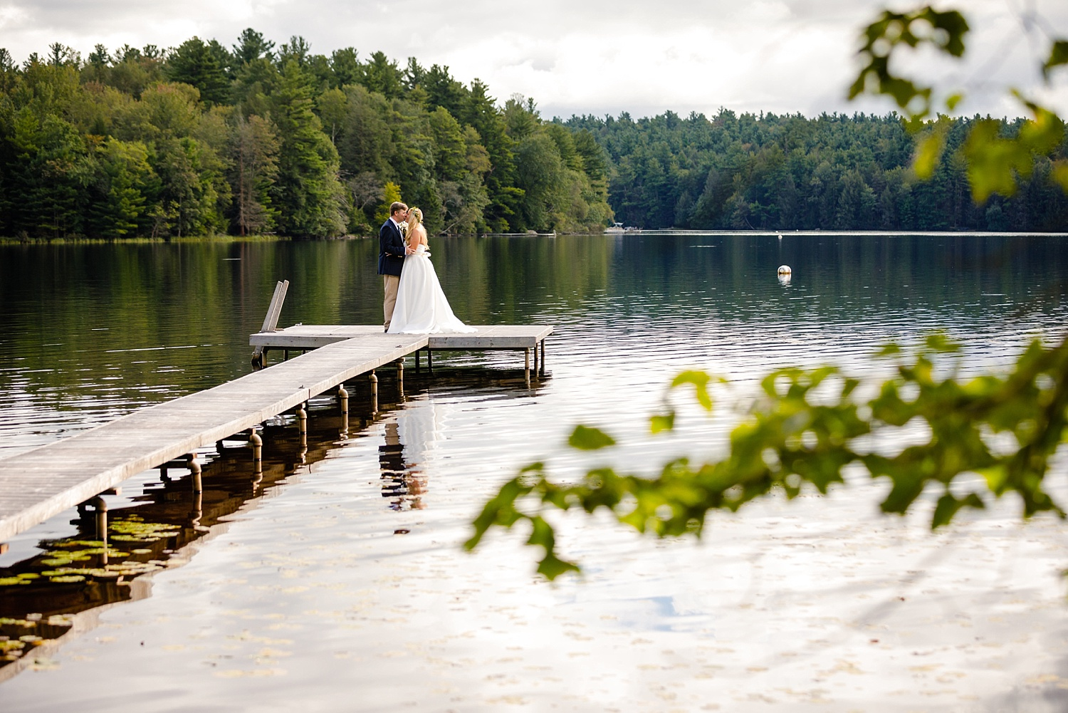 Pocono Lake Preserve rustic summer wedding Poconos photographer